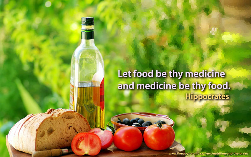 Let food be thy medicine and medicine be thy food. -- Hippocrates
