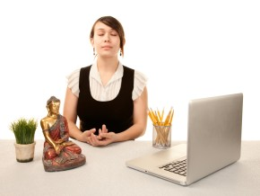 teacher meditating woman
