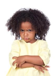 child sullen pouting